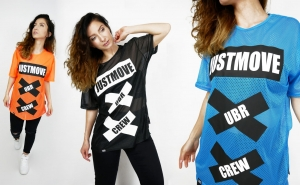 T-SHIRT SIATKA UNISEKS JUSTMOVE 2019 FIX