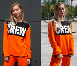 BLUZA UBR CREW LOOSE ORANGE 12G