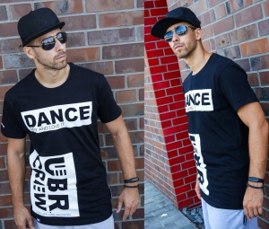 T-SHIRT DANCE UBR CREW BLACK 13G